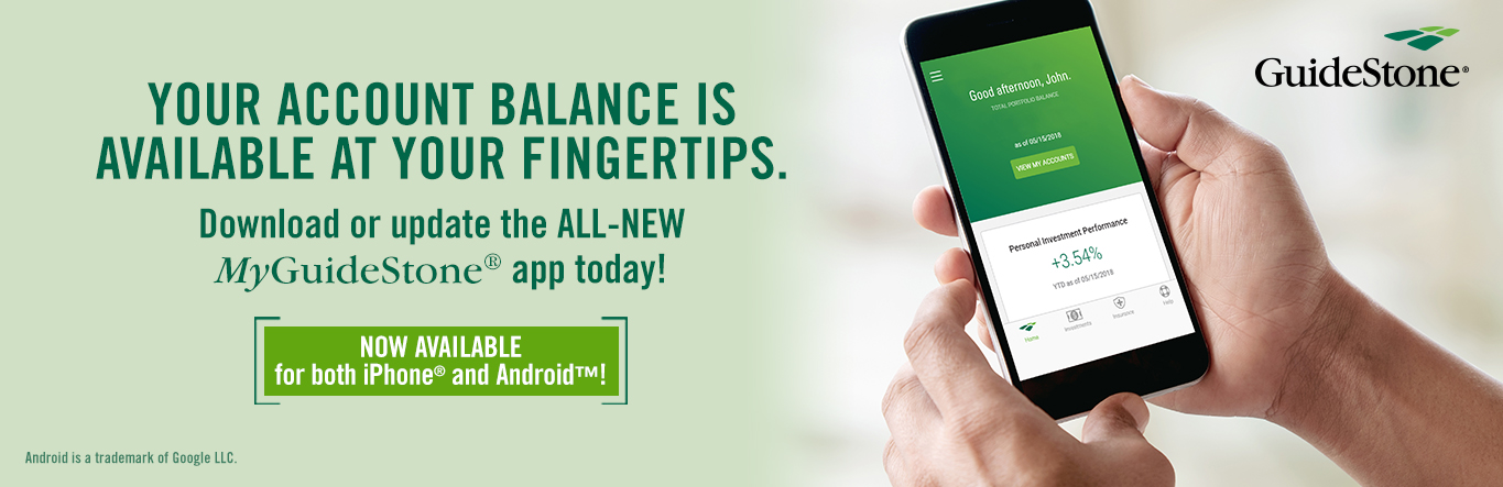 Your account balance is available at your fingertips.